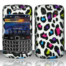 BlackBerry Bold 9700 Rubberized HARD Protector Case Phone Cover Rainbow Leopard