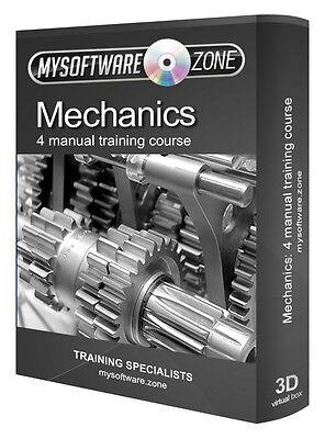 Learn Mechanics 4 Manual Training Course on CD Car Engine Hydraulics Power Gears