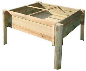 Orto pensile in legno per balcone terrazzo cm 74x74x50 h serra ...