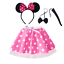 Ladies-MINNIE-MOUSE-Style-Costume-Fancy-Dress-12-034-length-SKIRT-AND-EAR-SET thumbnail 8