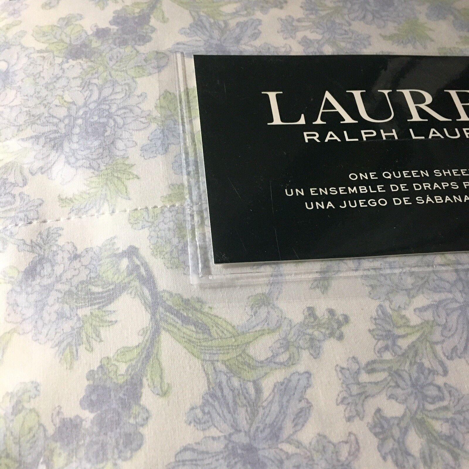 Ralph Lauren Floral Königin XDP 4p Sheet Set Muted Blau Grün Weiß NIP Free Ship