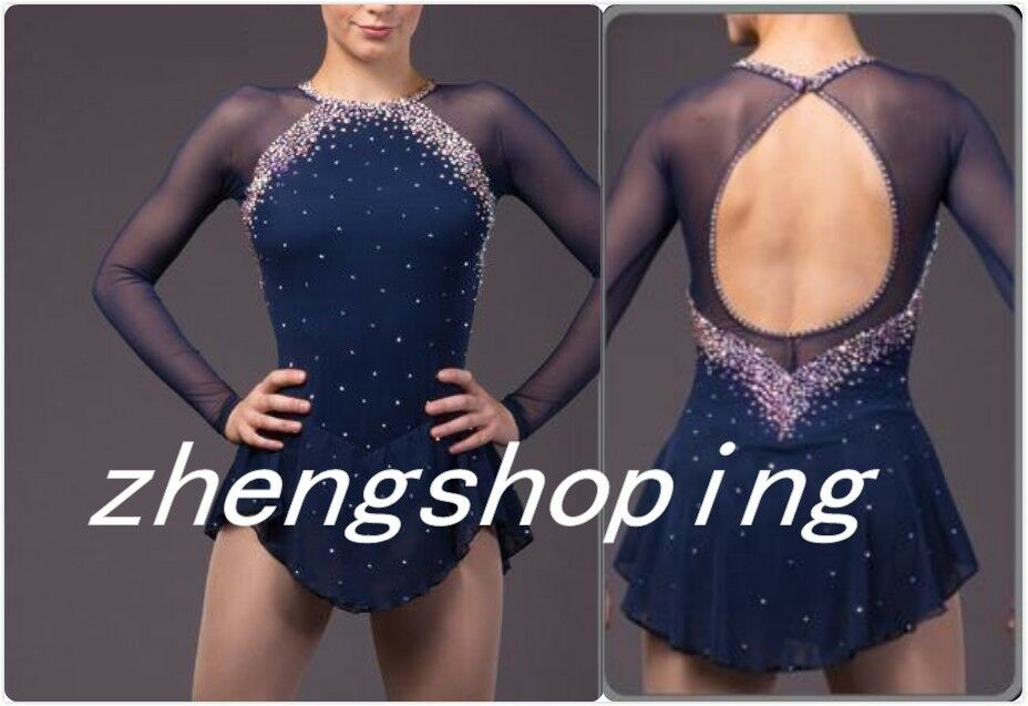 Elegant Figure Skating Dress Competition Ice skating dress  for girl& lady 8856  gorgeous