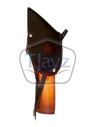 NEW LEFT 44//45 Cross Draw Tooled Leather Case Revolver Holster Gun Pistol SASS