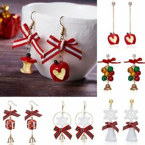 Christmas-Fruit-Snowflake-Bell-Hook-Earrings-Ear-Drop-Dangle-Jewellery-Xmas-Gift