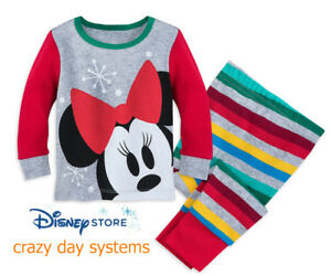 7587620cd Disney Authentic Minnie Mouse Pajamas Baby Girls 12 18 24 Months ...