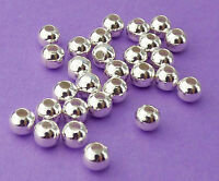 4mm Silver Plated Steel Round Seamless Spacer Beads 50pcs.