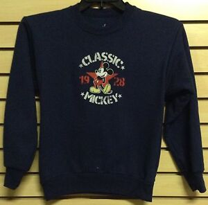 Kid-039-s-CLASSIC-MICKEY-MOUSE-Hoodie-Pull-Over-Jacket-Navy-Blue-Medium-M