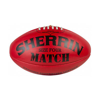 NEW SHERRIN MATCH BALL SIZE 4 RED LEATHER