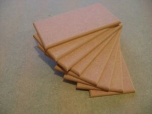5 PLAQUES  30cm X 10cm WOODEN  PLAQUES MDF BLANKS SQUARE EDGE 3MM MDF