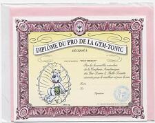 NEUF CARTE DIPLOME GYM TONIC + ENVELOPPE  !! 10 CARTES ACHETEES = PORT GRATUIT