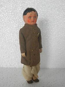 Vintage-Fino-Texturizado-Pano-Indio-Man-Papermache-Figura-Juguete-Coleccionable