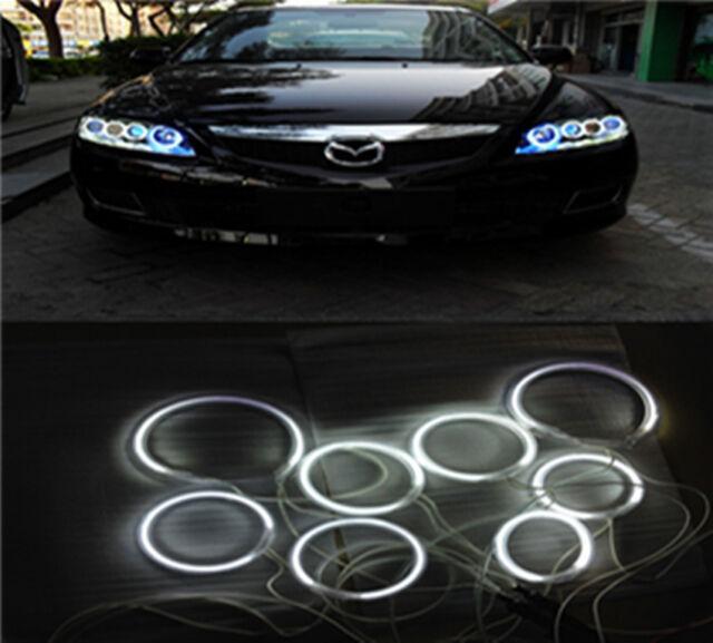Full 8PCS CCFL HALO RINGS ANGEL EYES For Mazda 6 Mazda 6 White 7000K