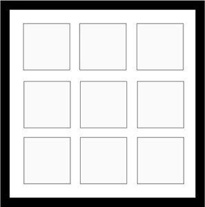 multi aperture frame for 9 5 x 5 prints ebay