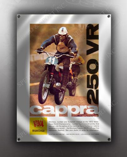 VINTAGE MONTESA CAPPRA 250VR MOTORCYCLE BANNER