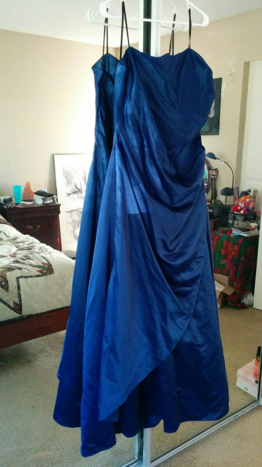 Urban Girl Nites Strapless Royal Blue Formal Dress Gown sz 23/24