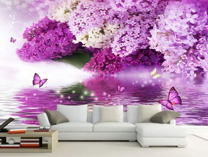 3D Fiori romantici 234 Parete Murale Carta da parati immagine sfondo muro stampa