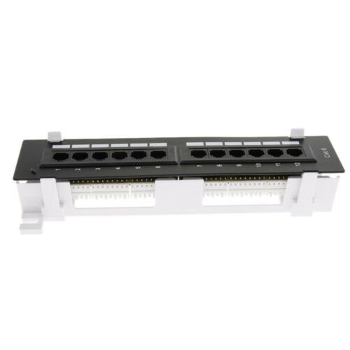 Thickened UTP CAT6//CAT5e 12 Port Keystone Patch Panel Jacks 10 Inches