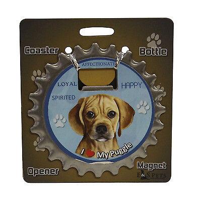 Puggle dog coaster magnet bottle opener Bottle Ninjas magnetic