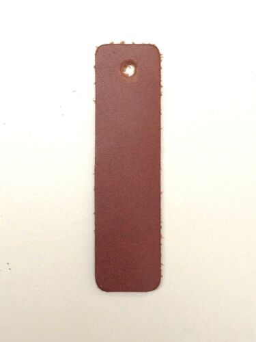 OXFORD COLLECTION LEATHER TAGS 75MM X 20 MM SATCHEL TAN 1.8-2.0MM THICK.SUPPLE