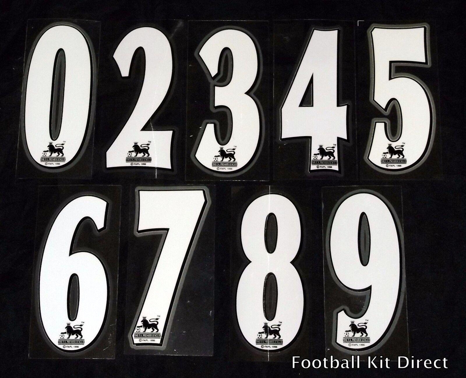 Premier League 1997 98 2006 07 Football Short Numbers 0 9 Ebay