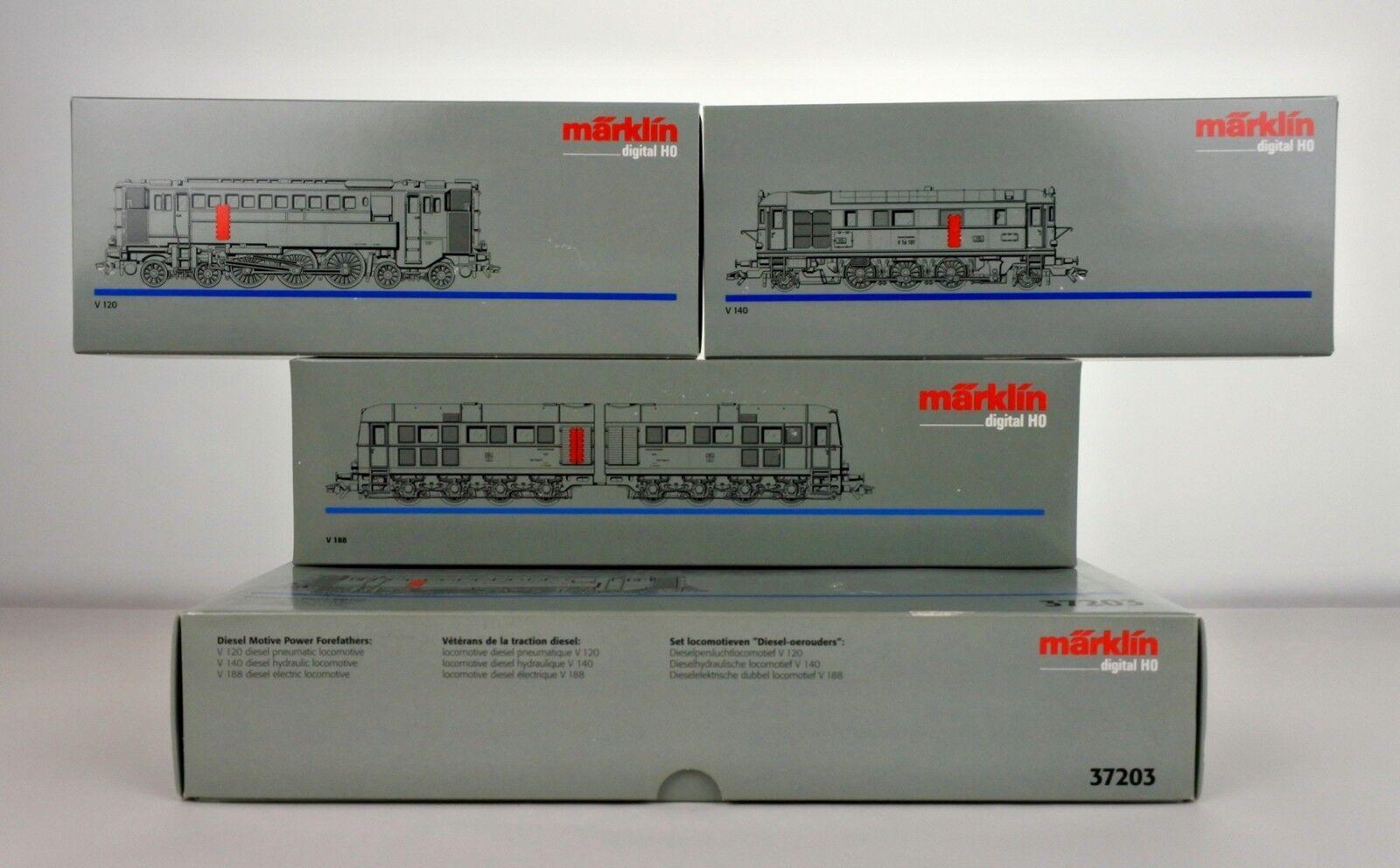 MARKLIN SCALA HO 37203 DRG Digitale specialee motore Diesel 3 Set