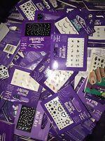 Lot 200 Nailene Nail Art Stickers Fingers & Toes Rhinestones Gems Wholesale