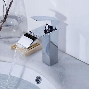 8-Inch-Deck-Mount-Waterfall-Spout-Bathroom-Vanity-Basin-Sink-Mixer-Faucet-Taps