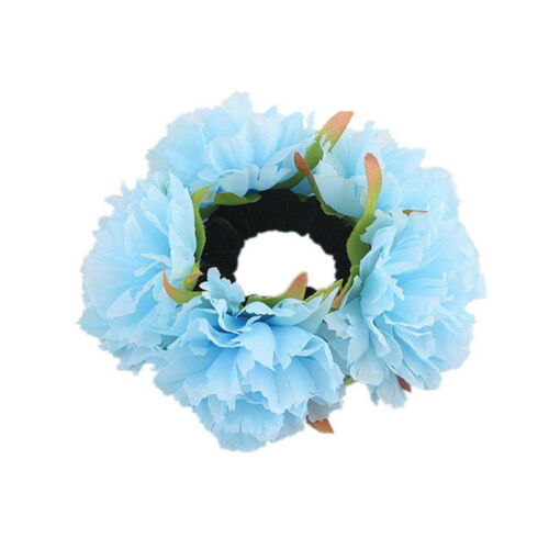 Practical Elastic Hair Rope Meatballs Headband Round Flower Hair Ring Pretty GA