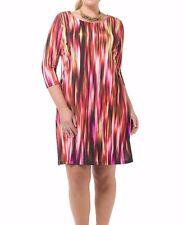 Triste Cascading Fuchsia Shift Women Dress Size 3X