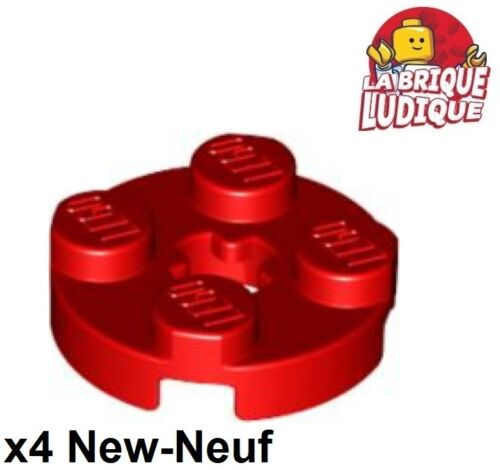 Lego 4x Plate Round plaque ronde axle hole 2x2 rouge//red 4032 NEUF