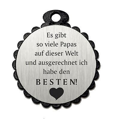 Deko Anhänger mit Spruch « BESTER PAPA DER WELT » Geschenk Dekoration Herz Liebe