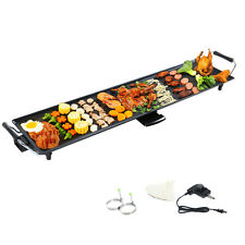 Electric Teppanyaki Table Top Grill Griddle BBQ Barbecue Plate Camping