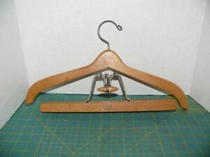 3PCS Wooden Pant Hanger Cabinet Suit Skirt Clothes Wood Hangers Set for Home