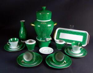 Kaffeeservice-mit-Kaffeemaschine-Neuerer-Porzellan