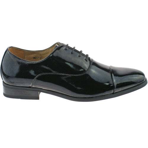 Goor Desmond Mens Patent Square Toe Cap Dress Shoes Black UK 10 EU 44 Ln02  50