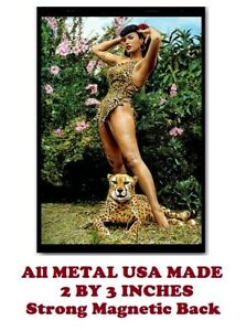 SM101-Betty-Page-Pinup-Leopard-2-by-3-Inch-Metal-Refrigerator-Magnet