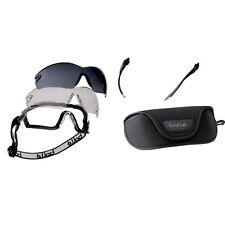 Bolle Cobra Safety Protective Tactical Goggles Glasses 3 Lens Kit COBRAKIT Black