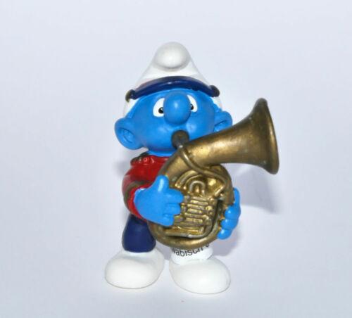 """/""""tenorhorn Schtroumpf/"""" jour!!! Drapeaux-NEW 20482 Schleich-NEUF /"""" Tenor Horn smurf/"""""""