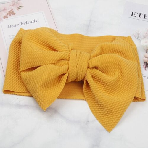 Baby Girl Bunny Rabbit Bowknot Turban Nylon Headband Elastic Hair Band Cute own