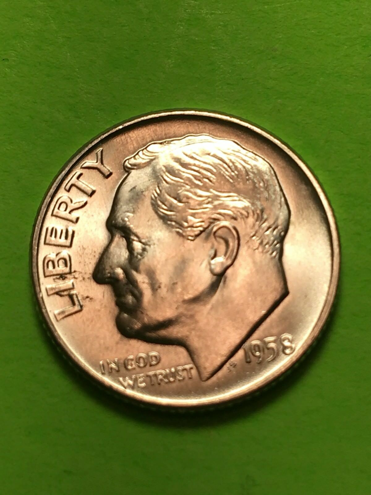 50 1946 Roosevelt Silver Dime Shotgun Roll ~ BU Uncirculated ~ US Coins MQ