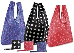 ef47d861cc Image is loading Zest-Ladies-Foldable-Printed-Polyester-Shopping-Bag