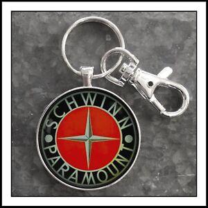 Vintage-Schwinn-Paramount-Bicycle-Emblem-Badge-Photo-Keychain-Gift