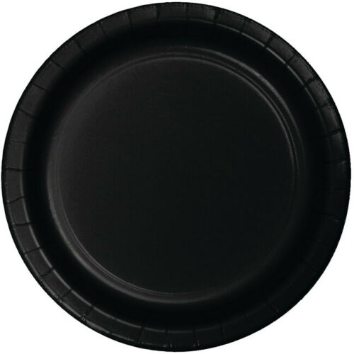 24 Black Dinner Plates Birthday Party Supplies
