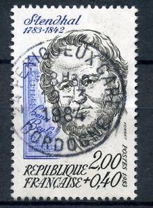 Modeste Stamp / Timbre France Oblitere N° 2284 Stendhal Brillant En Couleur