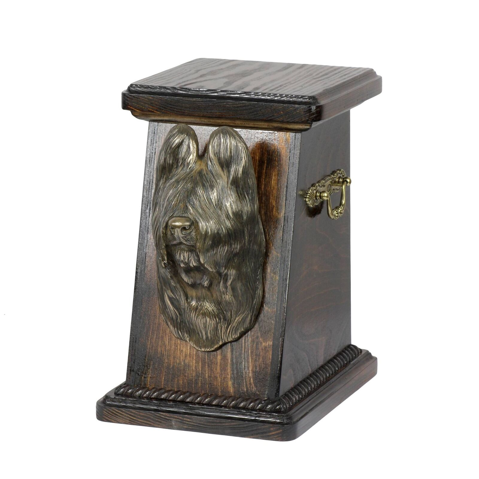 Briard - exclusive urn for dog with statue, Art Dog type 2