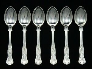 6-HEAVY-VINTAGE-SHEFFIELD-EPNS-A1-SILVER-PLATED-KINGS-PATTERN-5-25-034-TEA-SPOONS