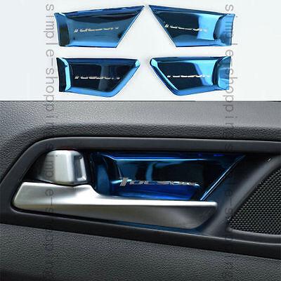 4x Steel Blue Inner Door Handle bowl Sticker trim Cover For Hyundai Tucson 16-17