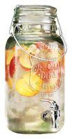 Glass Beverage Dispenser Drink Jar Pitcher Water Ice Tea Cold Drinks Serveware
