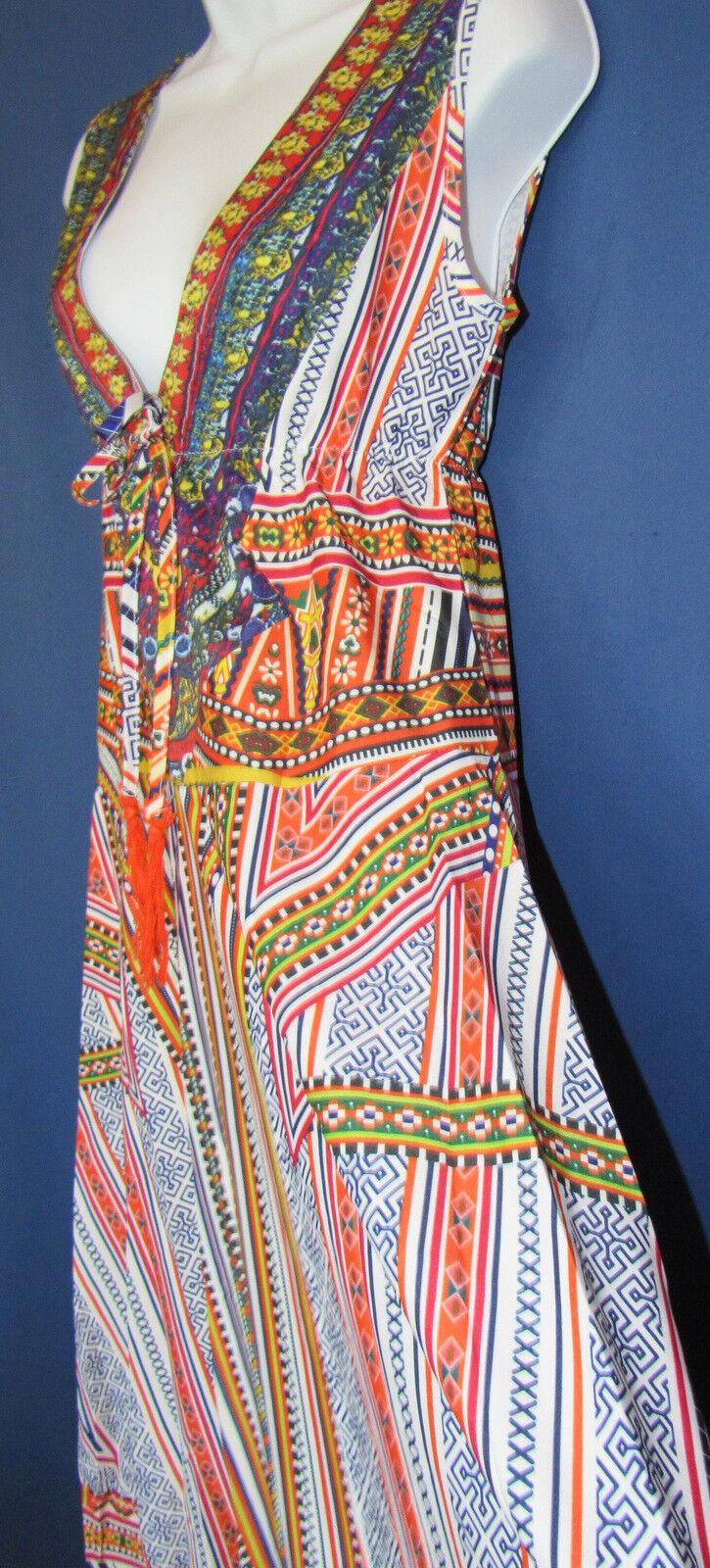 9f2c413713c ... Designer Designer Designer OSHOPLIVE Women s M Bohemian Gypsy Medieval  Fashion Long Dress New Tags e5c0e5 ...