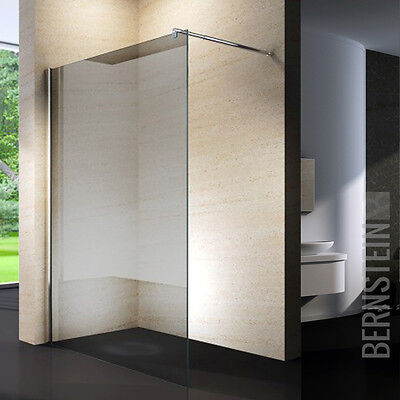 Walk in Dusche Duschabtrennung 10mm Duschwand Duschtrennwand NANO Grauglas
